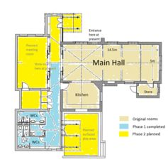 layout of the village hall